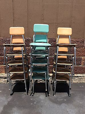 15 Vintage HEYWOOD WAKEFIELD Student Size School Chairs - Few Colors - Very Good