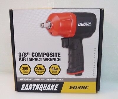"Central Pneumatic EarthQuake 3/8"" Composite Air Impact Wrench EQ38C - NEW 63061"