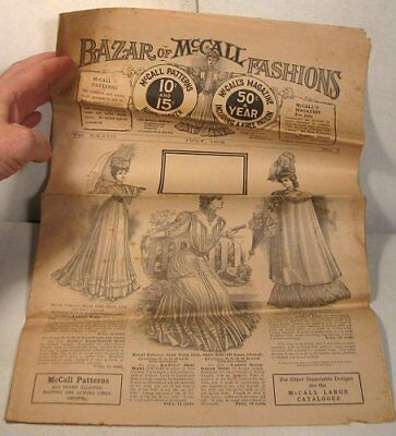 July 1906 Bazar of McCall Fashions sewing pattern catalog