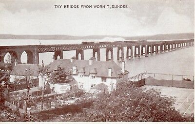 Old Dennis Postcard 1951 - Dundee - Tay Rail Bridge From Wormit