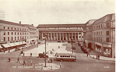 Old Valentines Postcard 1950 - Dundee - City Square