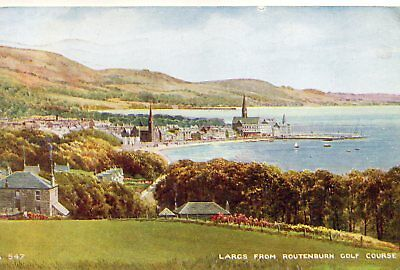 Old Valentines Postcard 1951 - Largs From Routenburn Golf Course