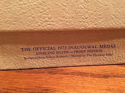 1973 Richard Nixon & Spiro Agnew Large Silver Inaugural Medal 7.4 ounces in case