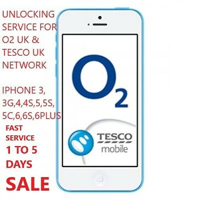 Fast O2 Uk: Tesco & Giffgaff Unlocking Service Iphone 4,4S,5,5S,5C,6,6S,6S Plus