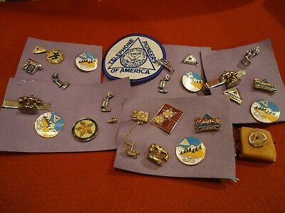 Telephone Pioneers of America Collector Pins and more, 26 items total