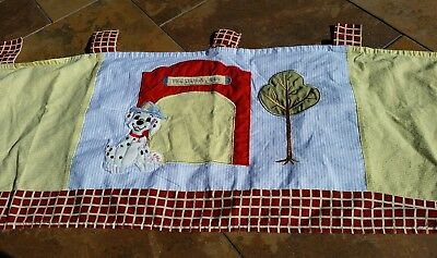 Geenny Baby Nursery Room Dalmation Dog Fire Station Window Valance Curtain
