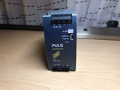 Puls CT10 CT10.241 3PH 380-480V 24V 10A DIN-Rail Power Supply Used Free Shipping