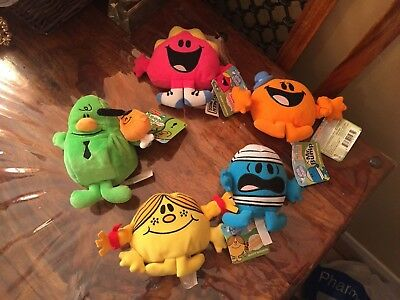 Mr Men & Little Miss Plush Toy Collection. New With Tags.