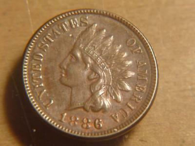 1886 Indian Head Cent Type I, XF+ Condition...SKU#12536