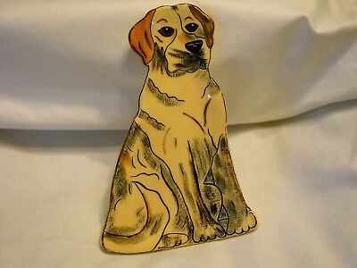 Dogs By Nina Lyman Ceramic Spoon Rest/trinket Dish
