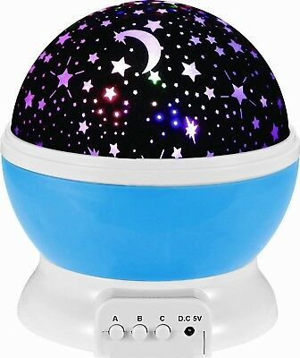 Aeroway Night Light Moon Star Projector 360 Degree Rotation LED Cosmos Lamp