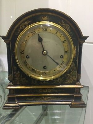Antique Early Elliott Chinoiserie Blue Mantle Clock Westminster Chime @ 1900