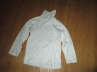 Tee-shirt col roulé,blanc,ML,Taille 3 ans,marque La Redoute,NEUF!