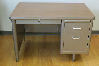 Steelcase Tanker Desk, Will Ship To You!  Mid-Century Steampunk Mad-Men Vintage