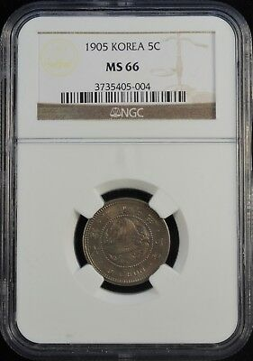 1905 Korea 5 Chon NGC MS 66