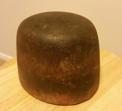 ☆ Vintage Antique Industrial  Millinery Wood Hat Making Wooden Block Mold Form
