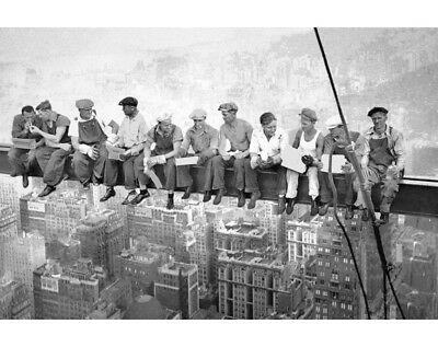Lunch Girder Beam Skyscraper 30 Rock 69th Floor B&W Photo Poster Art Print 334