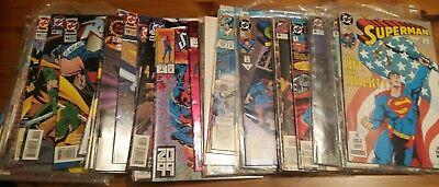 Collection of 41 vintage DC Superman, Robin & Spiderman comics 90s collectable