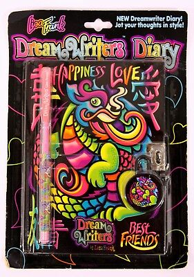 Lisa Frank Dream Writers Diary Dragon w/ Pen - NEW SEALED - P1795 Happiness Love