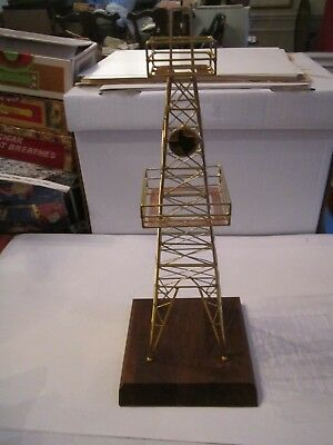 "New Gold Plated Oil Well Oil Derrick - 14"" Tall - Decorative - Retails: $225.00"