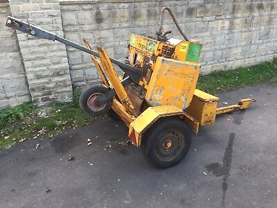Benford Terex MBR71HE Single Drum Diesel Pedestrian Vibrating Roller +Trailer