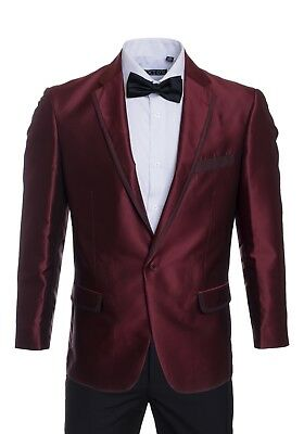 Premium Tuxedo Blazers- Burgundy Shiny Regular Fit Dinner Jackets