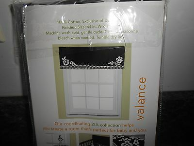 BananaFish Zia Window Valances Black/White 44in W X 15in H