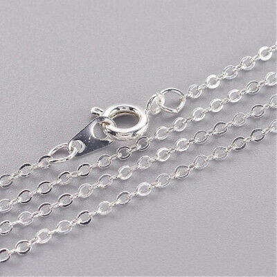 """Wholesale Bulk Lot 120 Silver Tone Solid Brass Cross 16"""" Spring Chain Necklaces"""