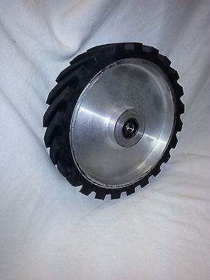 "8"" Serrated Contact Wheel for 2x72 Belt Sander Grinder"