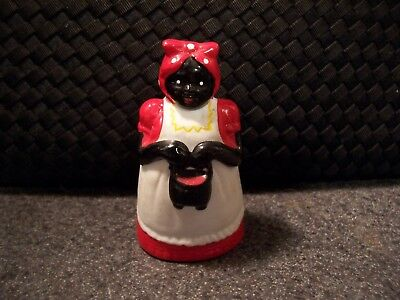 Vintage collectible Aunt Jemima hand painted ceramic dinner Bell