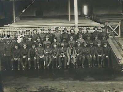 1914 Scarce Board Photo Ww1 Aif 10Th Battalion Morphetville Training Camp Sa Y24