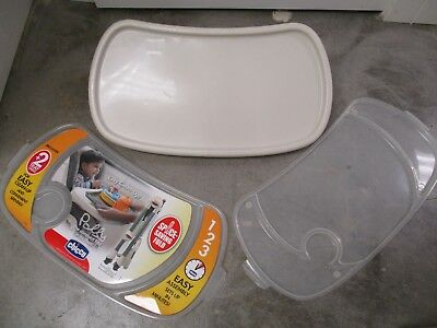 Chicco Polly High Chair / REPLACEMENT MAIN TRAY & 2 WASHABLE TRAY LINERS