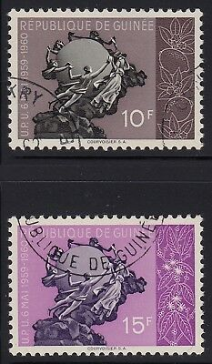 Guinea (French) 1959-60 UPU 2 stamps, used