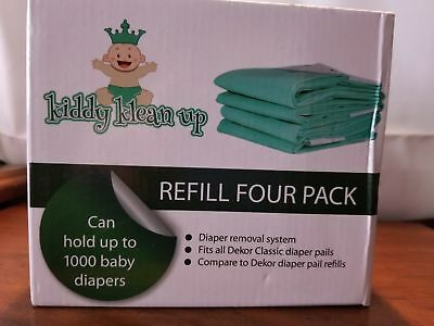 Kiddy Klean Up fits Dekor Diaper Removal System 4 Pack Refill