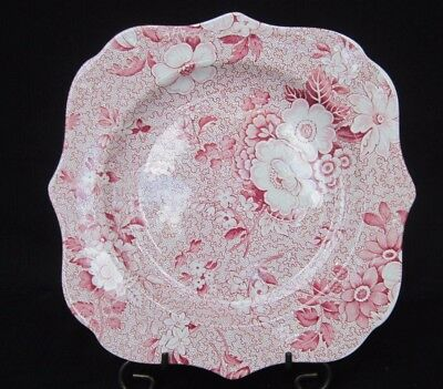 """Vintage """"SPODE"""" Archive Collection 8.75"""" Scalloped Square Plate Floral 1 Piece"""