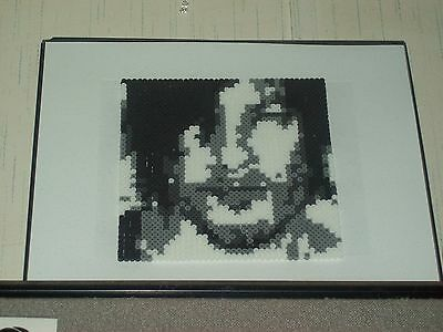 Handmade Perler Norman Reedus portrait - 12 X 12 - Excellent - Collection