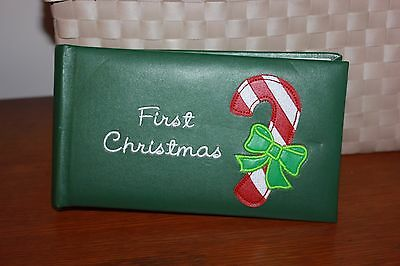 "fetco 80 page First Christmas Photo Album-holds 80 4""x6""photos FREE SHIPPING"