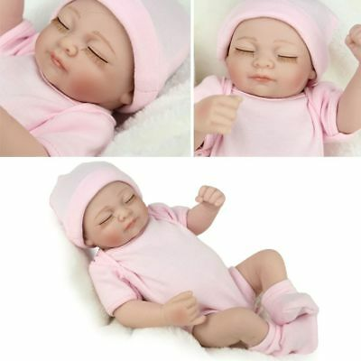 "11"" Handmade Newborn Baby Full Body Vinyl Silicone Real Looking Reborn Doll Girl"