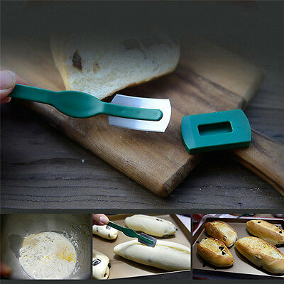 Hand Crafted Bread Baking Tools Included with Authentic Leather Protective Cover