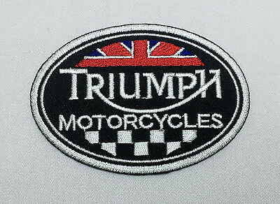 TRIUMPH MOTORCYCLES Biker  Emblem Sew Iron-On Embroidered Applique Patch Badge