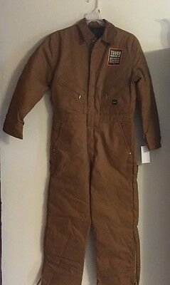 New  Walls Work Wear 2Xl Coveralls Canvas Insulated  Brown In Color
