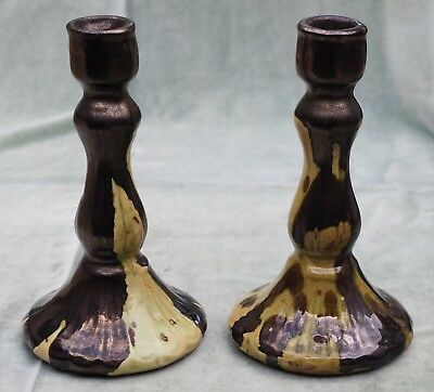 Vintage Pair Daisyware Daisy Ware Australian Pottery Candle Stick Holders