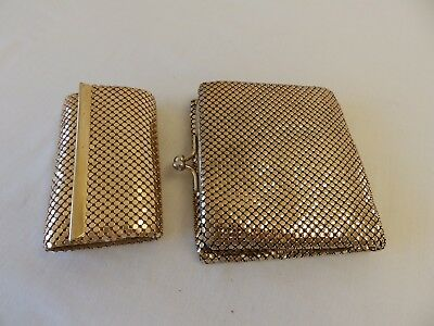 "Vintage / Retro Genuine ""glomesh"" Gold Ladies Mesh Purse / Wallet & Key Holder."