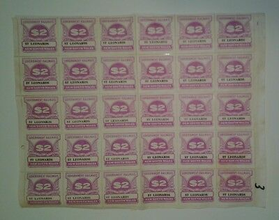 NSW Railway Parcel Stamps BLOCKS OF 30 MINT ST LEONARDS $2 NSWGR