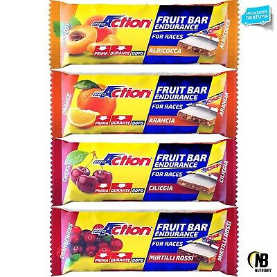 Proaction Fruit Bar Endurance 24 Barrette Energetiche da 40 grammi Carboidrati