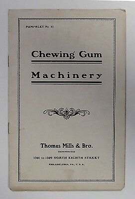"""Extremely Scarce - Early Thomas Mills & Bro.""""Chewing Gum Machinery Catalog"""""""