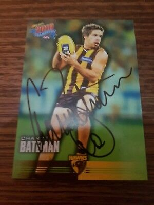 Signed Chance Bateman Hawthorn Select 2010 Afl Card With Coa