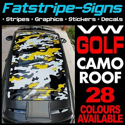 Vw Golf Camo Roof Graphics Stickers Stripes Decals Volkswagen V Dub Gti R32 D