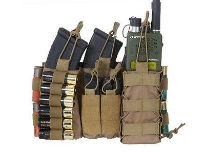 Multi-Mission Molle Front Panel, tan - Airsoft Softair Pouch Magazintasche