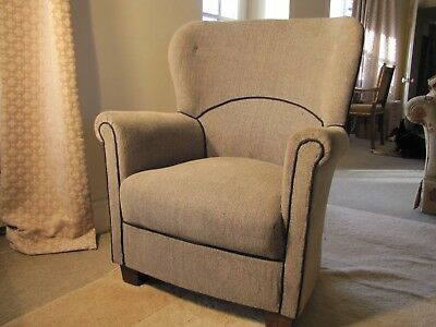 Antique Art Deco Club Chair With Rocking Tilting Action 1930 Later Upholstery
